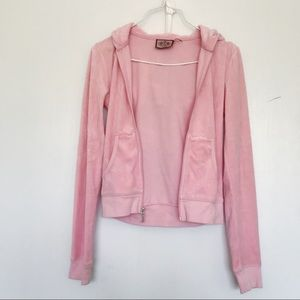 Juicy Couture light pink velvet jacket